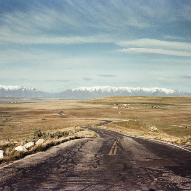 """""""A road in the desert"""" stock image"""