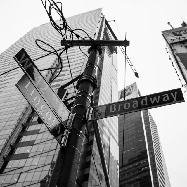 """Broadway & W42nd Street"" stock image"