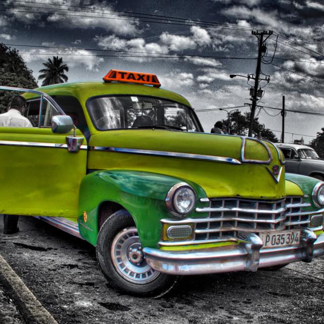 """Havana Taxi"" stock image"
