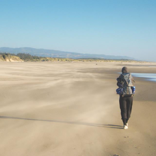 """beach hike"" stock image"