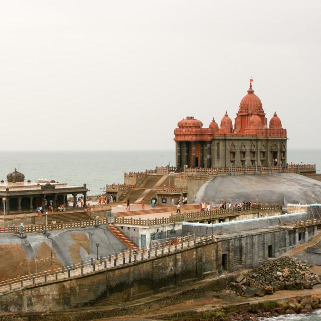 """The Vivekananda Memorial in Kanyakumari, India."" stock image"