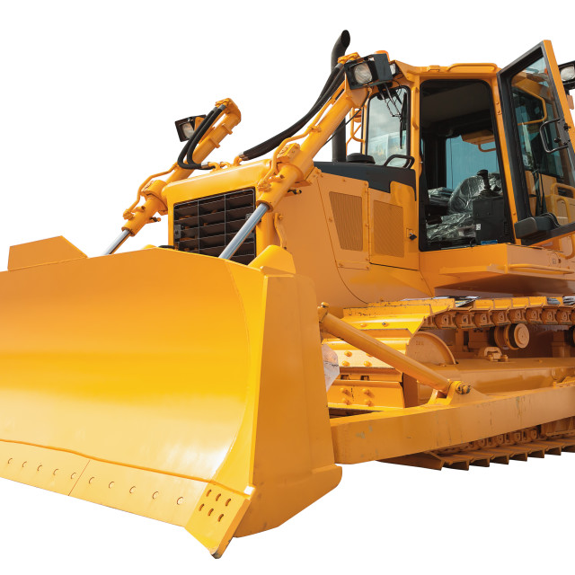"""New modern loader or bulldozer - excavator isolated with clippin"" stock image"