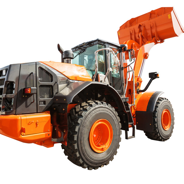 """""""Loader excavator construction machinery equipment isolated with"""" stock image"""