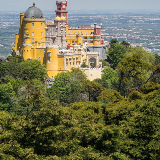 """Palacio da Pena, Sintra, Portugal"" stock image"