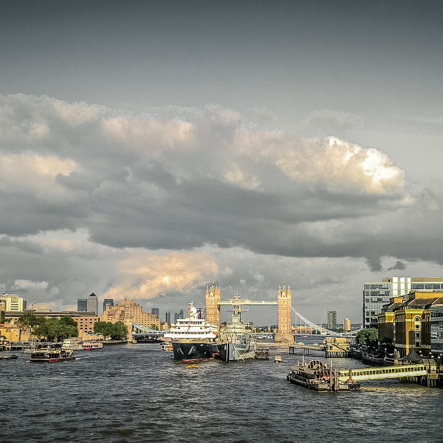 """River Thames view"" stock image"
