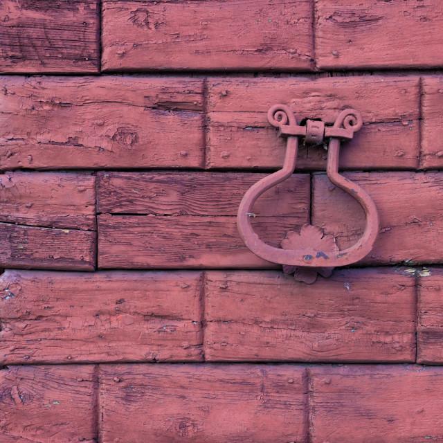 """""""Detail of an old wooden door"""" stock image"""