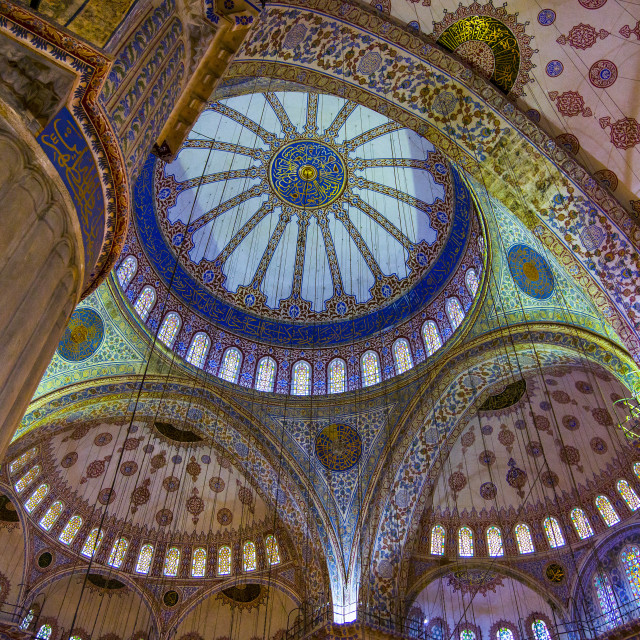 """Colors of blue mosque."" stock image"