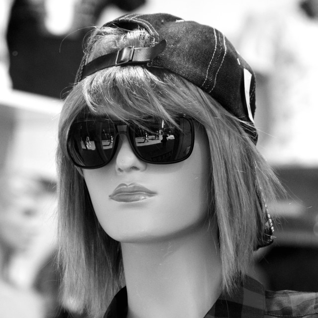 """""""Mannequin in Shades"""" stock image"""