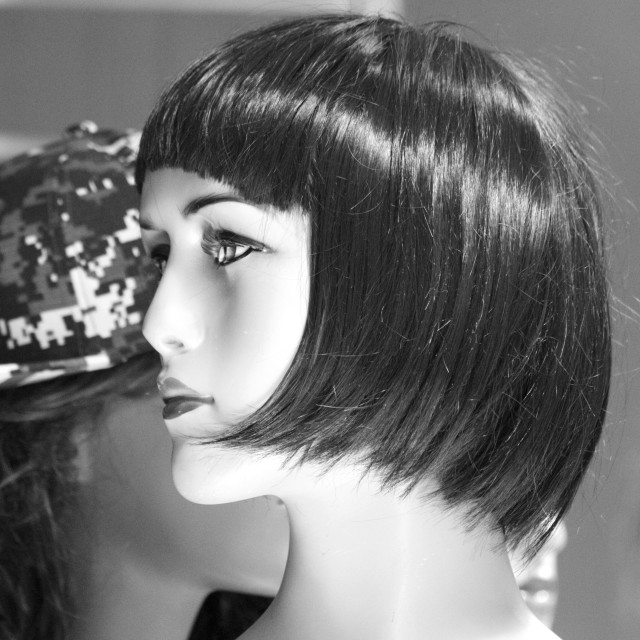 """""""Mannequin with bob hairstyle"""" stock image"""
