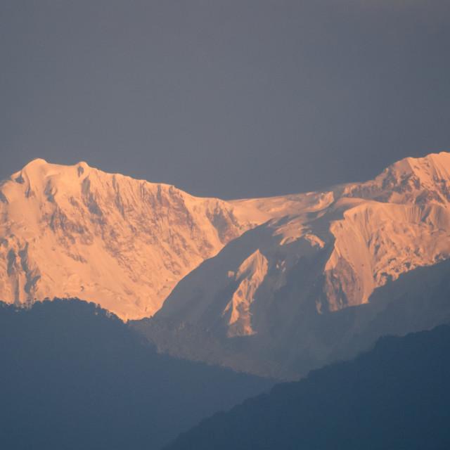 """""""Kanchenjunga from Yoksum"""" stock image"""