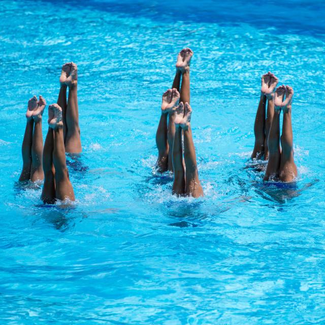 """Synchronised Swimming"" stock image"