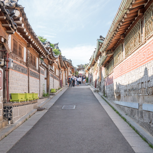 """Bukchon Hanok Village in Seoul, South Korea"" stock image"