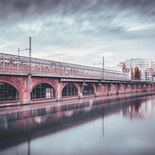 """Jannowitzbridge I Berlin, Germany 2015"" stock image"