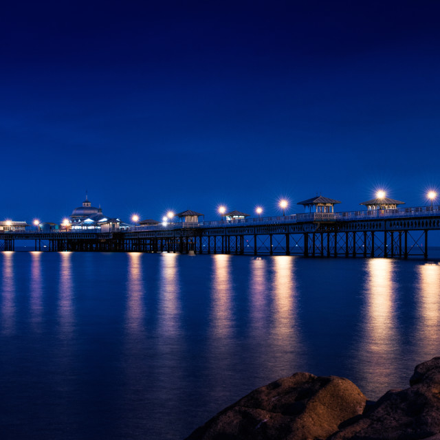 """The Pier by Night"" stock image"