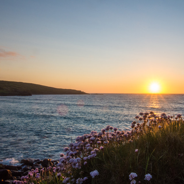 """Porthmeor Sundown"" stock image"