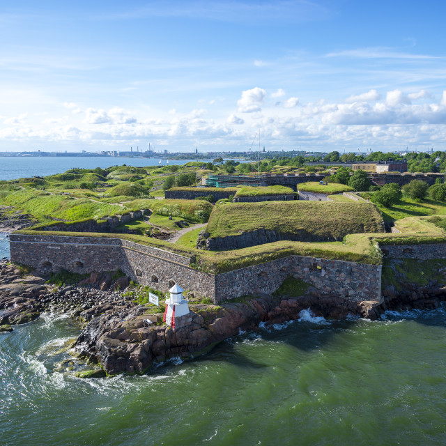 """Suomenlinna (Finnish) / Sveaborg (Swedish)"" stock image"