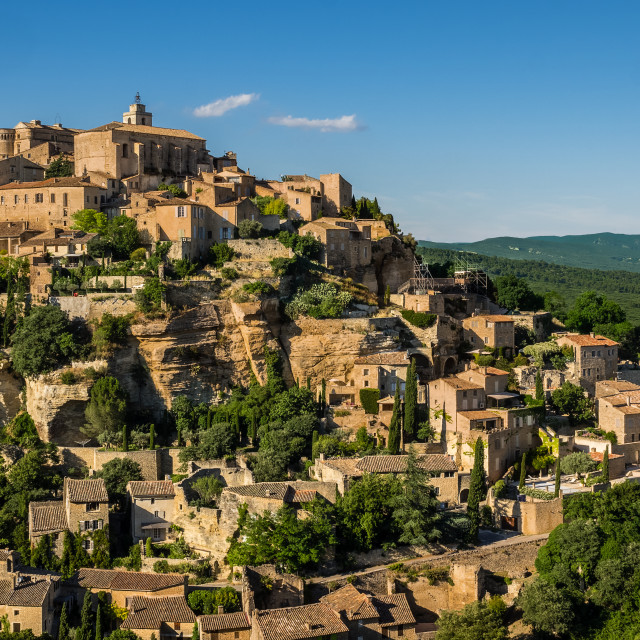 """""""Gordes in the Evening Light."""" stock image"""