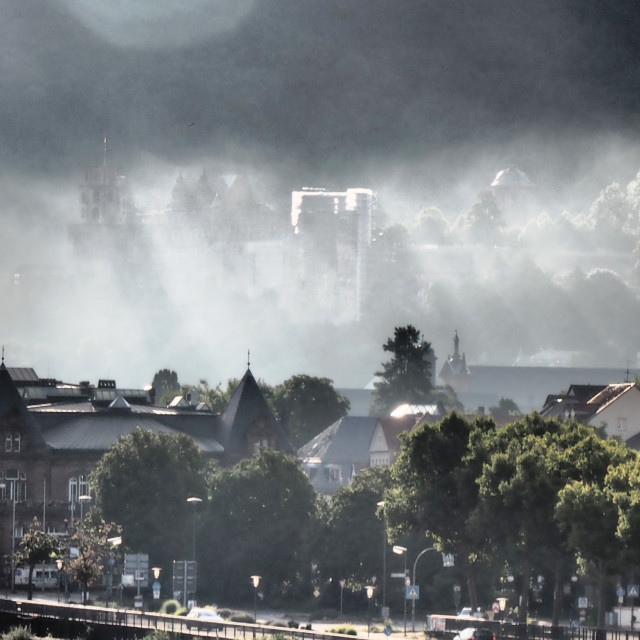 """Heidelberg. Morning Mood."" stock image"