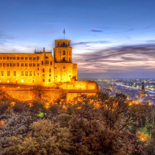 """Heidelberg Castle. Evening Light."" stock image"
