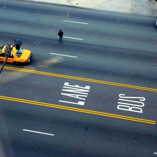 """""""Newark bus lane"""" stock image"""