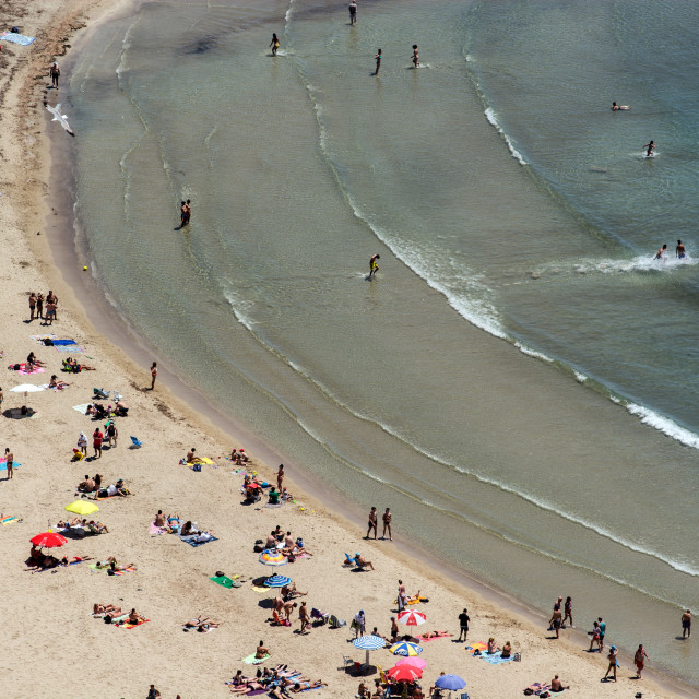 """""""Aerial view of a beach"""" stock image"""
