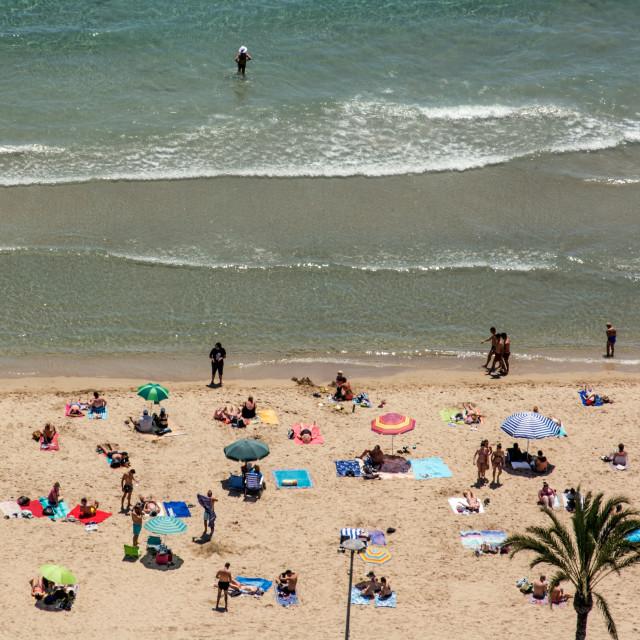 """Beach, aerial view"" stock image"