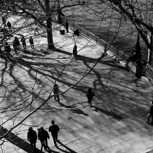 """Southbank Shadows, London part Three"" stock image"