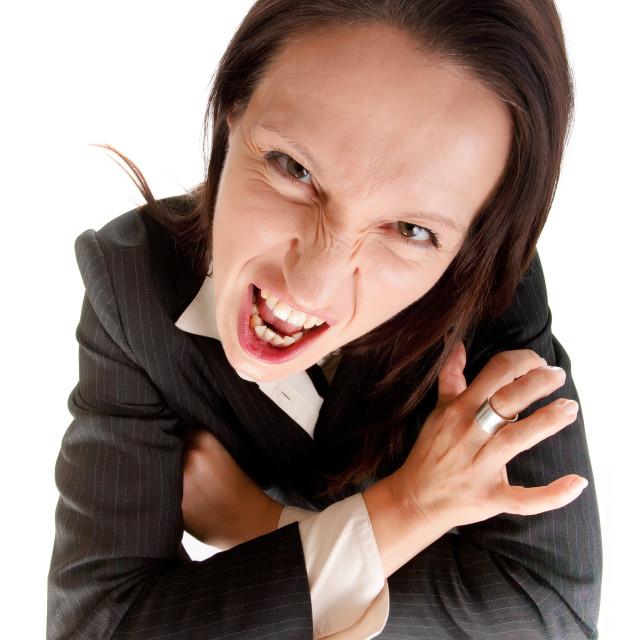 """furious business woman"" stock image"