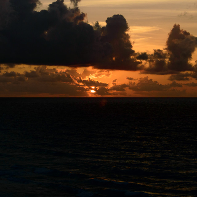 """Sunrise at Cancun"" stock image"