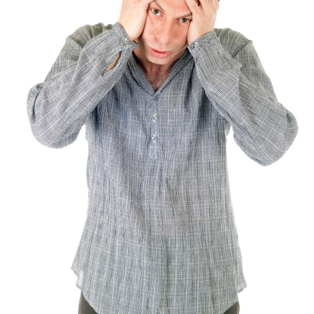 """upset man"" stock image"