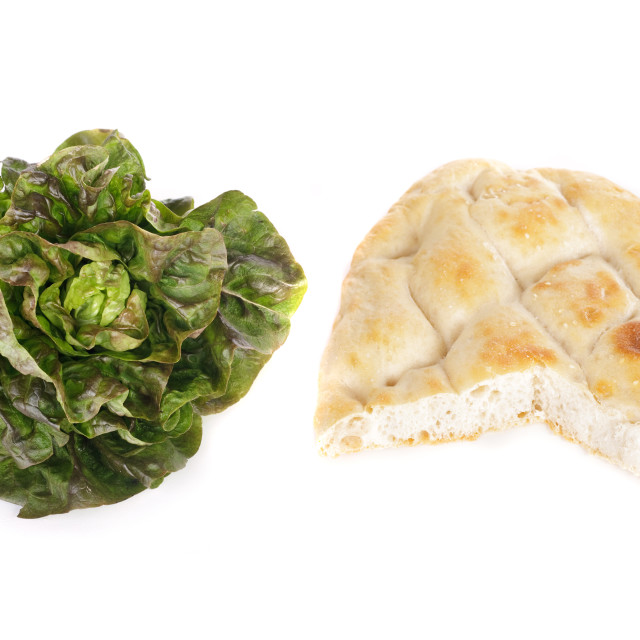 """salad and pita bread"" stock image"