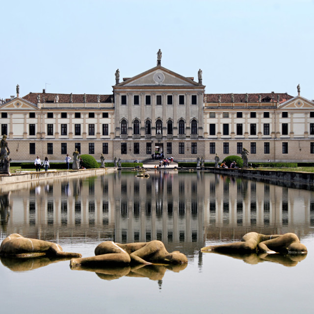 """View of the italian national museum of Villa Pisani"" stock image"