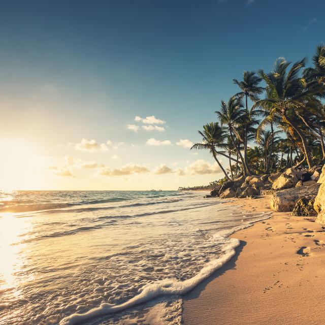 """Carribean sea, beautiful panoramic view"" stock image"