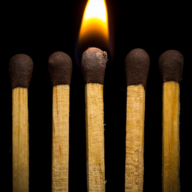 """""""Burning Match"""" stock image"""