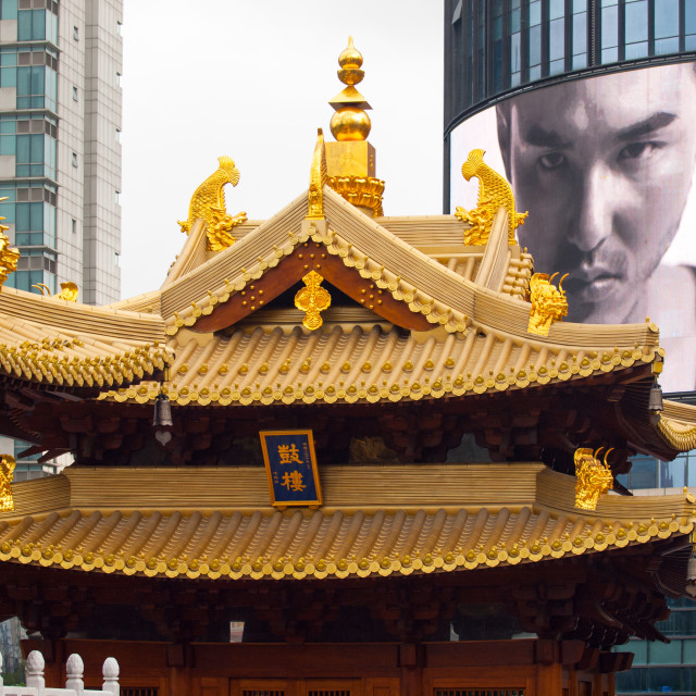 """Man, Larger than a Temple"" stock image"