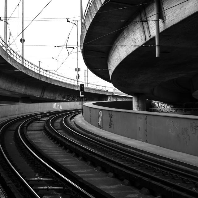 """Winding Rails"" stock image"