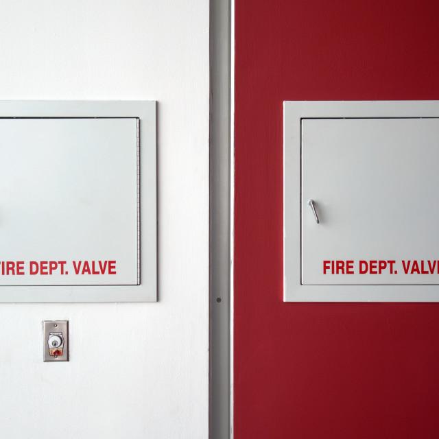 """Fire Dept. Valve"" stock image"