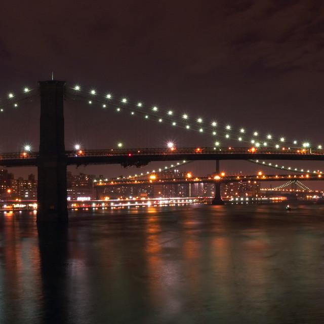 """The Bridges of New York"" stock image"