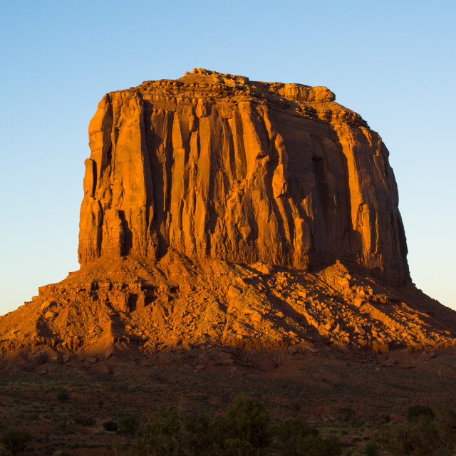 """Sunset in Monument Valley"" stock image"
