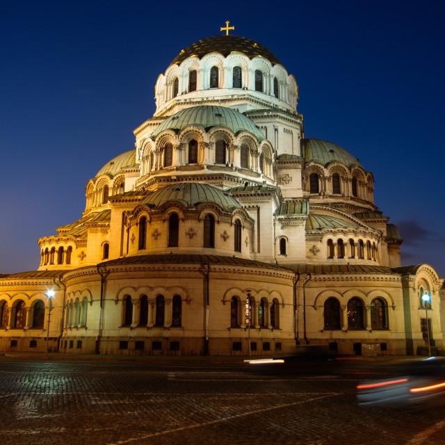 """Saint Alexandar Nevski Cathedral"" stock image"