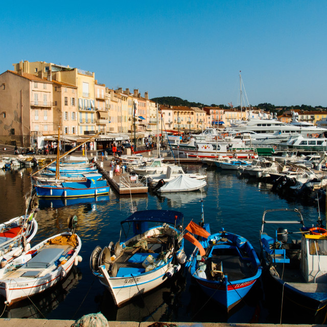 """Saint-Tropez Harbor View"" stock image"
