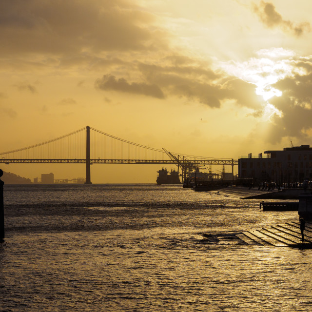 """Lisbon Sunset"" stock image"