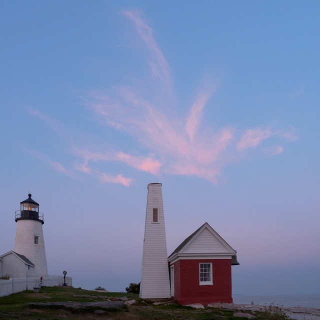 """Sunset Sky at Pemaquid Point"" stock image"