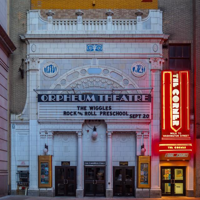 """""""Orpheum Theatre"""" stock image"""