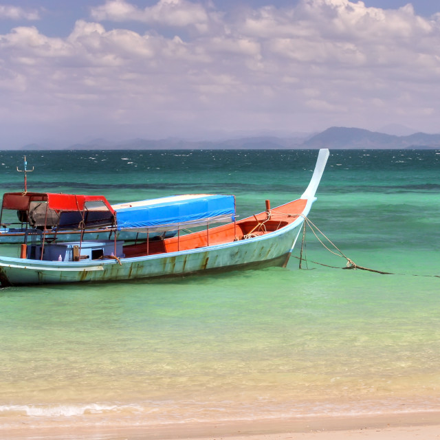 """""""boat in paradise"""" stock image"""