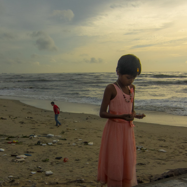 """Girl, Fort Kochi"" stock image"