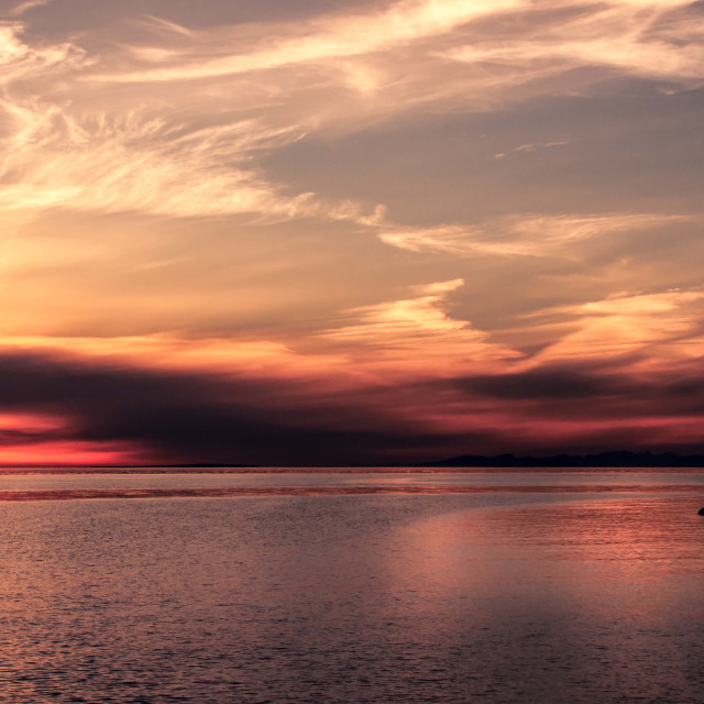 """Sandy Point Sunset"" stock image"