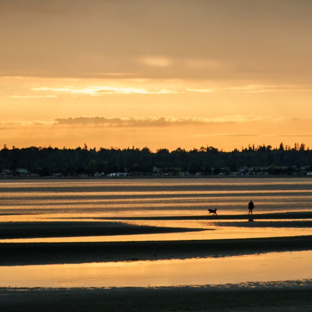 """Birch Bay Sunset"" stock image"
