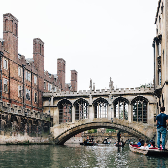 """The Bridge of Sighs"" stock image"