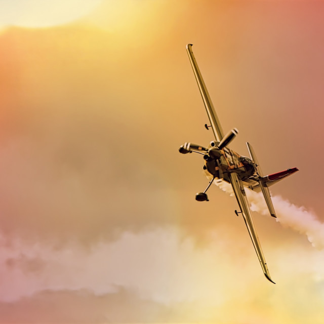 """Evening Aerobatics"" stock image"